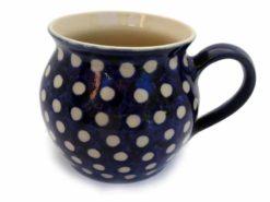 keramik-kaffeetopf-blauweiss-bauchig