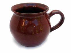 keramik-kaffeetopf-braun-bauchig